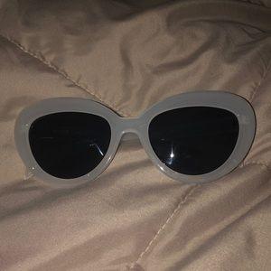 JCrew Sunglasses white plastic frame NWOT